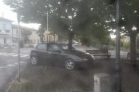 Postazione IU6AEI sotto la pioggia